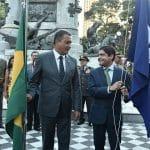 POLÍTICA: Prefeito e governador hasteiam bandeira em encerramento do 2 de Julho