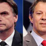 POLÍTICA: Na cidade de SP, Haddad aparece com 51% dos votos, e Bolsonaro, 49%