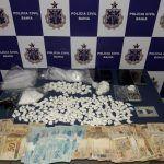CONQUISTA: Polícia prende suspeito com grande quantidade de cocaína e dinheiro do tráfico no Ibirapuera