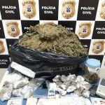 DTE prende traficante e motorista de aplicativo e apreende drogas em Conquista