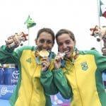 Com dobradinha brasileira no triatlo, Luisa Baptista conquista o primeiro ouro do Brasil em Lima