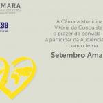 AUDIÊNCIA PÚBLICA: Câmara discute setembro amarelo