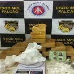 POLÍCIA: Esquadrão Falcão apreende R$ 500 mil em drogas no Vila Serrana