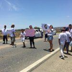 Conquista: Protesto pede justiça para os casos de atropelamento que mataram Sthefani e Raíssa