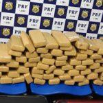 POLICIA RODOVIÁRIA FEDERAL: Mulher transportava 50 kg de maconha em ônibus interestadual