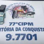 POLÍCIA: Dupla cearense presa com R$ 8 mil furtados em banco de Vitória da Conquista