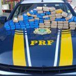 Policia Rodoviária Federal faz apreensão de 50 Kg de maconha durante abordagem a ônibus de turismo em Vitória da Conquista