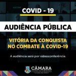 Vereadores debatem ações de combate ao novo coronavírus em audiência pública