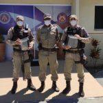 Policiais da 78ª CIPM de Vitória da Conquista recebem EPIs contra o novo coronavírus