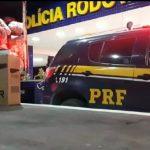 CONQUISTA: PRF apreende 500.000 maços de cigarros  escondidos em caminhão baú
