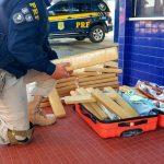 """Jequié: PRF prende passageira de ônibus com bagagem """"recheada"""" de maconha"""