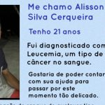 CONQUISTA: Alisson precisa de doação de sangue; Saiba como ajudar