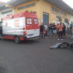 URGENTE: Mulher fica ferida em acidente com moto na Avenida Ilhéus no Bairro Brasil