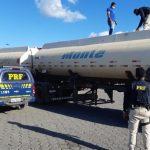 BAHIA: PRF apreende carreta de combustível com nota fiscal fraudada na Chapada Diamantina