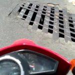 VOCÊ REPÓRTER: Bueiro aberto na Avenida Frei Benjamim tem sido local de acidentes a motociclistas ASSISTA