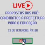 SIMMP promove live 'Propostas dos pré-candidatos à prefeitura para a educação'; Confira