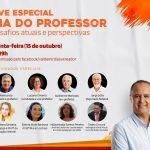Valdemir Dias realiza Live especial em homenagem ao Dia do professor; Confira
