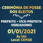 CONQUISTA: Confira as principais informações sobre a posse de prefeito e vereadores no próximo dia 1 de janeiro