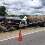 CONQUISTA: Acidente com caminhão tira a vida de motorista na BR 116