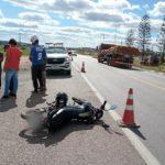 Motociclista fica ferido em grave acidente é registrado na BR 116