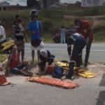 URGENTE: Vídeo mostra casal que foi atropelado próximo a bueiro no bairro Guarani