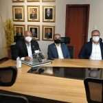 Câmara faz pronunciamento em coletiva ao lado da prefeita Sheila Lemos sobre morte de Herzem