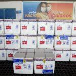 Nova remessa de vacinas chega à Bahia e estado ultrapassa 2 milhões de doses recebidas