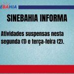 CONQUISTA: Postos SAC suspendem atendimento nesta segunda (1) e terça-feira (2)