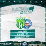 ECPP recebe o Bahia neste domingo no estádio Lomantão