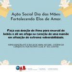OAB Conquista promove campanha para arrecadar itens de enxoval para bebês; Confira