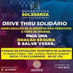 Corpo de Bombeiros realiza Drive-thru Solidário neste sábado