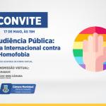 Dia Internacional Contra a Homofobia será debatido na Câmara