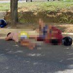 CONQUISTA: Vídeo mostra acidente com suspeitos que estavam á bordo de motocicleta na avenida Luís Eduardo Magalhaes