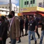 Bloco 'Por Conquista' visita Estação de Transbordo Herzem Gusmão
