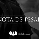 OAB Conquista lamenta falecimento de Hermínio Vitor Amaral