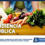 Audiência Pública debate segurança alimentar e celebra fundação do MPA e Cedasb