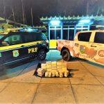 PRF e CIPE-MATA ATLÂNTICA apreendem cocaína e crack escondidos em caminhonete Toro
