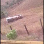 URGENTE: Vídeo mostra acidente na Serra do Marçal no início da tarde deste sábado